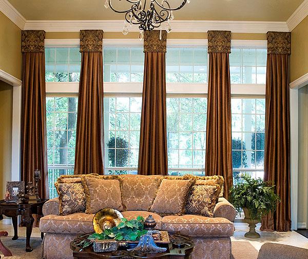Окна в гостинной
